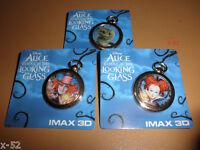 Disney ALICE movie AMC imax PIN lot MAD HATTER johnny depp CHESHIRE CAT toy