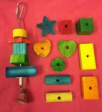 Animal toy metal stick bell &15 fruit flavour wood treat chew gnaw Boredom Break