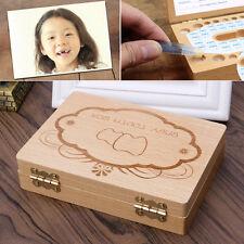 Kids Tooth Box Organizer Baby Save Milk Teeth Wood big Storage Box Boy&Girl