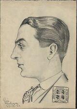 PARTITO SARDO D'AZIONE-RITRATTO DI ESPONENTE PARTITO SARDO-GOVI-BOLOGNA-1923