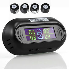 4 External Sensors TPMS Solar Power CAR Tire Tyre Pressure Monitoring System LCD