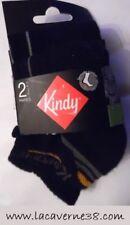 Lot de 2 paires chaussettes Kindy 27/30 noir sous vêtement enfant garçon