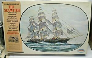 VINTAGE AURORA MODEL KIT 1/118 SCALE THE SEA WITCH CLIPPER SHIP 1966 NO. 442/595