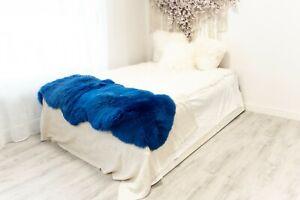 Blue Sheepskin Rug  Merino Type Large Sizes Sheep Skin Sheepskin Throw Teppich