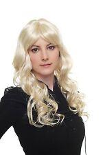 Women's Wig Platinum Blonde Layered Curly Curls Fringe Long 60cm 6313 Angels