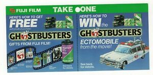 1980's FUJI Film Take One Enter to Win Ghostbusters II 3 x 7 Counter Pull Sheet