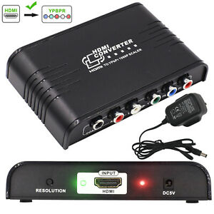 HDMI To YPbPr Component AV Video Converter R/L Coaxial Audio Adapter RGB 1080P