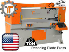 NEW!! CJRTec 80 Ton Receding Plane Press - Beam Die Cutting Machine