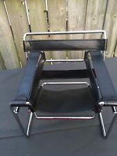 "Horsman Urban Modern 1/4 BJD 16"" Tubular Chair Black Leather New"