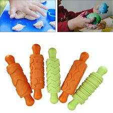 5x Kinder Gummi Teig Form Roller Plastilin Werkzeugzubehör Lernspielzeug
