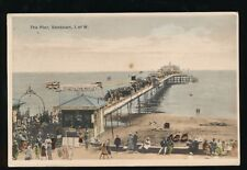 IOW Isle of Wight SANDOWN The Pier Used 1925 PPC On With the Motley banner