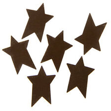 Metal Stars- Rustic Folk Star Shape- 1 inches - 6 pieces per package