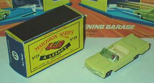 Matchbox 39b Pontiac Convertible Very Near Mint in Very Near Mint Box