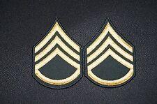 US Army Dress Class A Uniform Green Staff Sergeant E-6 Rank Stripes Patch 1 pair