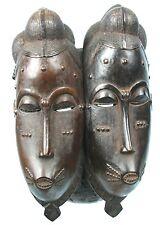 Art Africain Tribal -Très Beau Masque Jumeaux Baoulé à Deux Visages - Twin Mask