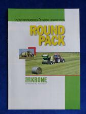 0722) Krone Round Pack 1550 Rundballenpressen - Prospekt Brochure 07.1998