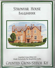 STRONVAR HOUSE - BALQUHIDDER -  COUNTED CROSS STITCH KIT - OLD YOUTH HOTEL