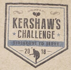 Clayton Kershaw Challenge T-Shirt XL 2018 Strikeout to Serve Charity