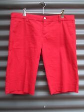 Dickies Women's Red Shorts Stretch Waist Label Size 15 Measured Waist 36