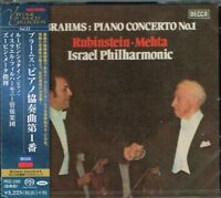 Brahms Piano Concerto No.1 Rubinstein Mehta Japan SACD w/OBI NEW/SEALED
