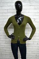 Cardigan ALPHA Donna Taglia XS Pullover Maglione Sweater Woman Verde