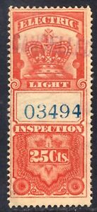 CANADA ELECTRIC LIGHT INSPECTION #FE1 25c, 1895 CROWN, F, USED