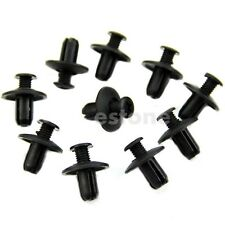 10pcs 8mm Car Hole Dia Plastic Rivets Fastener Fender Bumper Push Pin Clips