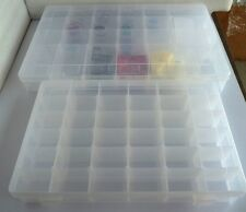 Empty storage container nail art tips decals beads jewelry making craft fishing