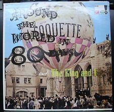 VINTAGE VINYL RECORD LP ALBUM AROUND THE WORLD IN 80 DAYS THE KING AND I MONO
