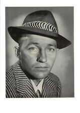 VINTAGE OLD PORTRAIT OF YOUNG BING CROSBY WHITE CHRISTMAS MOVIE FEDORA AD PRINT