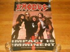 Exodus impact is imminent 20 x 30 Promo Poster original 1990 capitol records