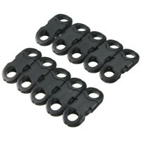 10Pcs Buckles Hook Black For Paracord Bracelets Plastic Clasp Side Release