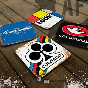 Vintage Cycling Collection Drinks Glossy Coaster Cyclist Gift Table Beer Mancave