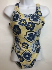 Vintage Made In USA floral Swim Bathing Suit One Piece  Size 14 (42)