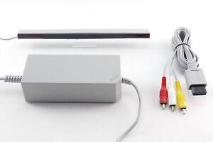 Nintendo Wii Zubehör-Set Auswahl: Netzteil, Sensorleiste, Kabel, HDMI Adapter