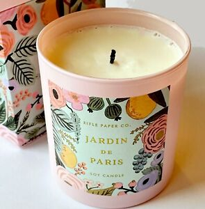 Purple Candle 7.25 Oz Fig /& Flora Soy Wax Candle Unique Floral Spring Floral Rustic Floral Woodsy Floral
