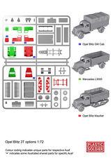 Plastic Soldier German Medium Truck (1 Truck / 3 Variants) 1 - Sprue