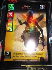 SWCCGYJ CCG YOUNG JEDI REFLECTIONS FOIL MINT SUPER RARE N° 74 WATTO SLAVE OWNER