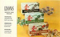 Advertising English Candy Lyons Mits Candies Postcard 20-11139