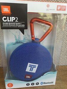JBL Clip 2 Waterproof Portable Bluetooth Speaker (BLUE) NEW