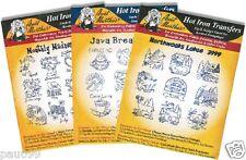 Aunt Martha's Transfers - Set of 3 Java Break Monthly Madness Northwoods Lodge