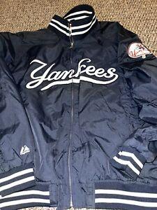 Majestic New York Yankees MLB Baseball Dugout Vintage Jacket Size 2XL