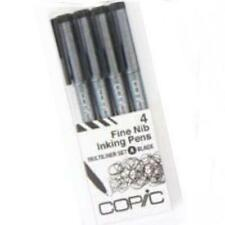 Too COPIC Multiliner A 4 pcs Black Sketch Marker Marqueur Japan Import Free ship