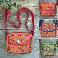Hmong thai hippy hippie boho ethnic shoulder cross body bag handbag unusual gift