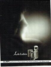 PUBLICITE ADVERTISING 0217  1979  Parfum L de Lubin femme seins nus