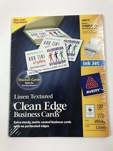 """Avery Templates Ink Jet 2""""x3.5"""" 120 Cards White Linen"""