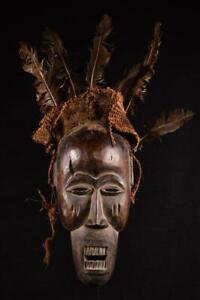 11673a Afrikanische Alte Salampusu Maske / Mask DR Kongo