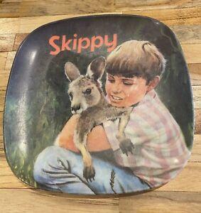 Vintage Retro Skippy The Bush Kangaroo Australian Bessemer Plate 1970's