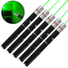 5Pc Portable Green Laser Pointer Pen Single Point Beam Waterproof Lazer Cat Toy