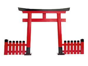Japanese Shrine small Gate Torii Jinja Shinto Japan Red w/wall Kamidana H:290mm
